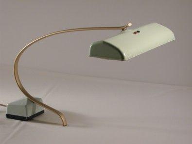 coole 50erjahre arbeitsleuchte mit neonröhren mintgrün um 1955