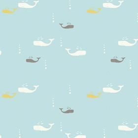 Del Ray Fabrics: Whale Watching Sky