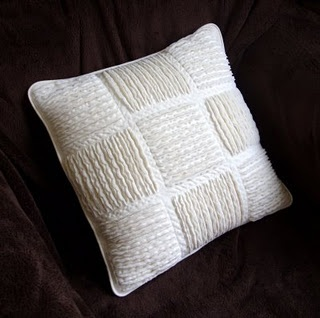 Chenille quilted cushion