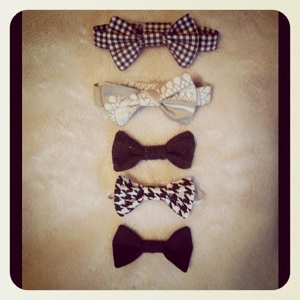 DIY bow ties for baby vb