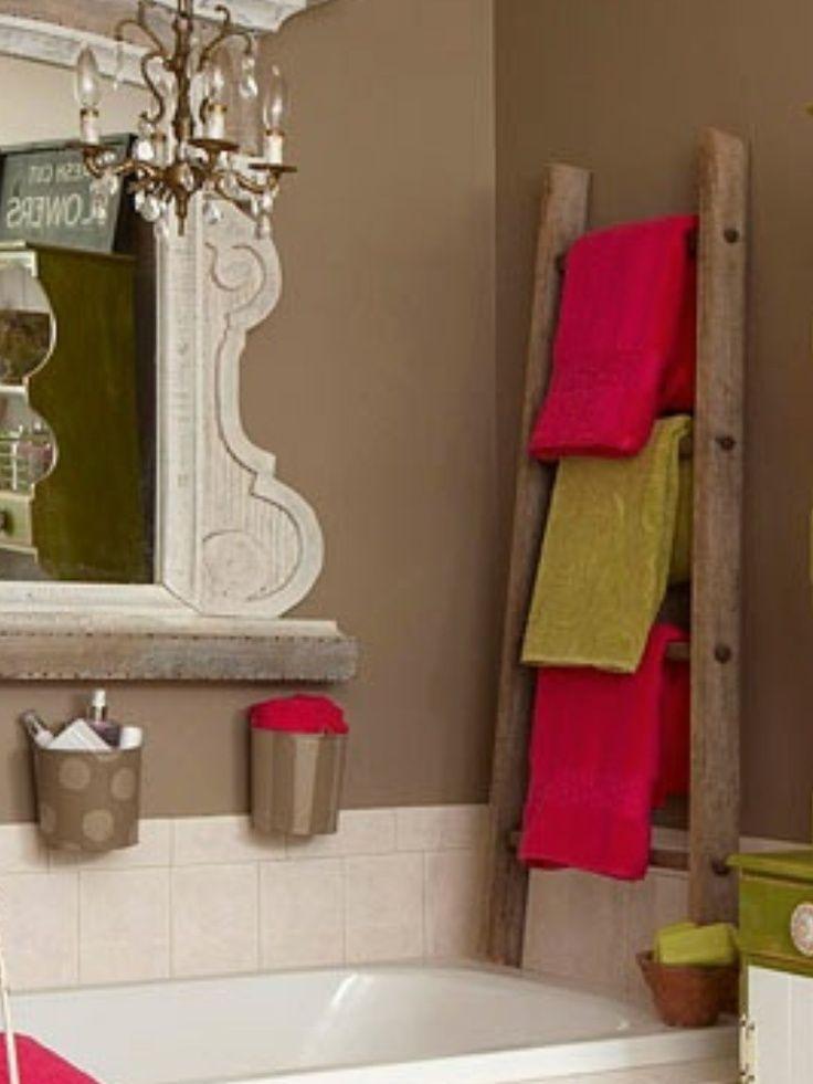 1000+ ideas about Ladder Towel Racks on Pinterest | Hot tub ...