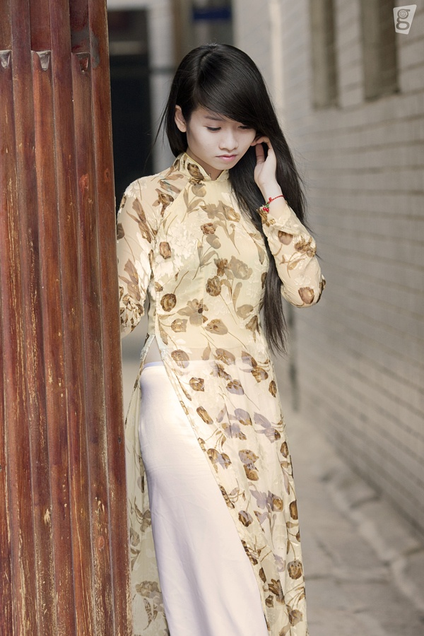 Ao Dai Vietnam She Is Beautiful I Love Her Outfit The