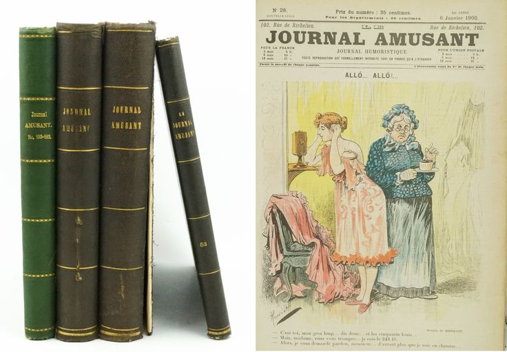 """Le Journal Amusant, Journal Humoristique"", nummers 28 t/m 183 verdeeld over 4 banden"