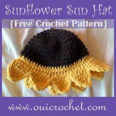 Oui Crochet: Sunflower Sun Hat {Free Crochet Pattern}