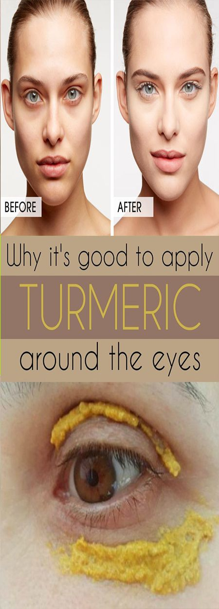 Why it's good to apply turmeric around the eyes