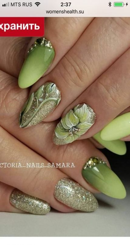 29 ongles à la mode vert printemps, #Green #Nails #Printemps #trendy #TrendyNailgreen   – Trendy Nail Blog