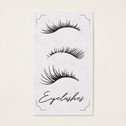 Amazing Lashes Eyelashes Makeup Artist Business Card - makeup artist gifts style stylish unique custom stylist