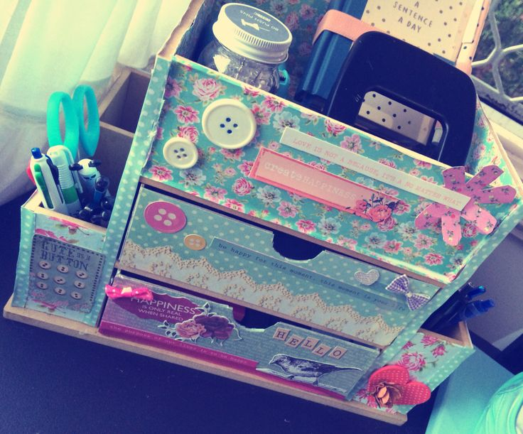 Crafty desk Caddy :) #craft #stationaryholder #organise