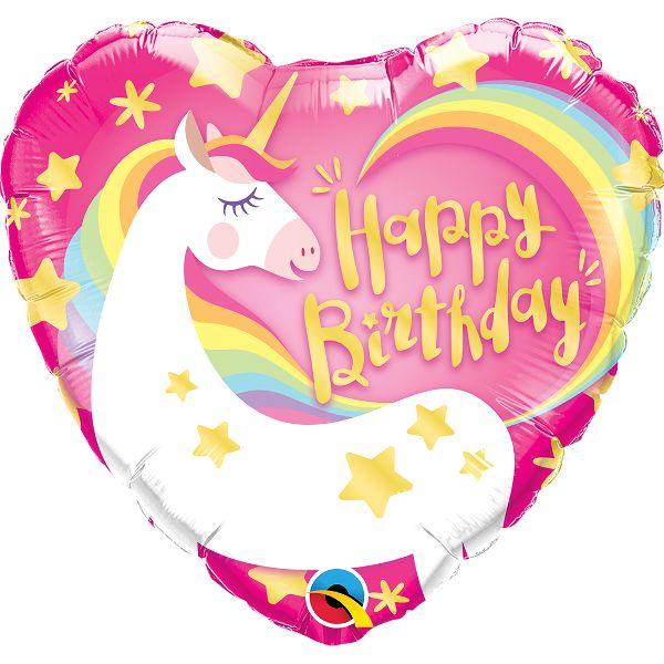 """Magical Unicorn Heart 18"""" Foil Balloon Party Supplies Canada - Open A Party"""