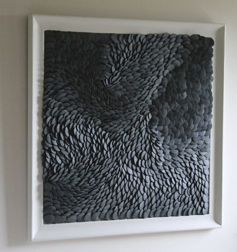 Fenella Elms - framed black flow