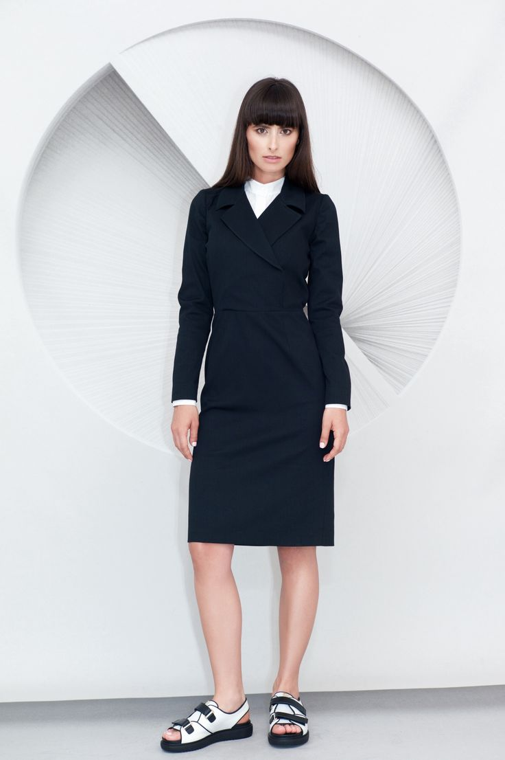 Lapels Midi Dress
