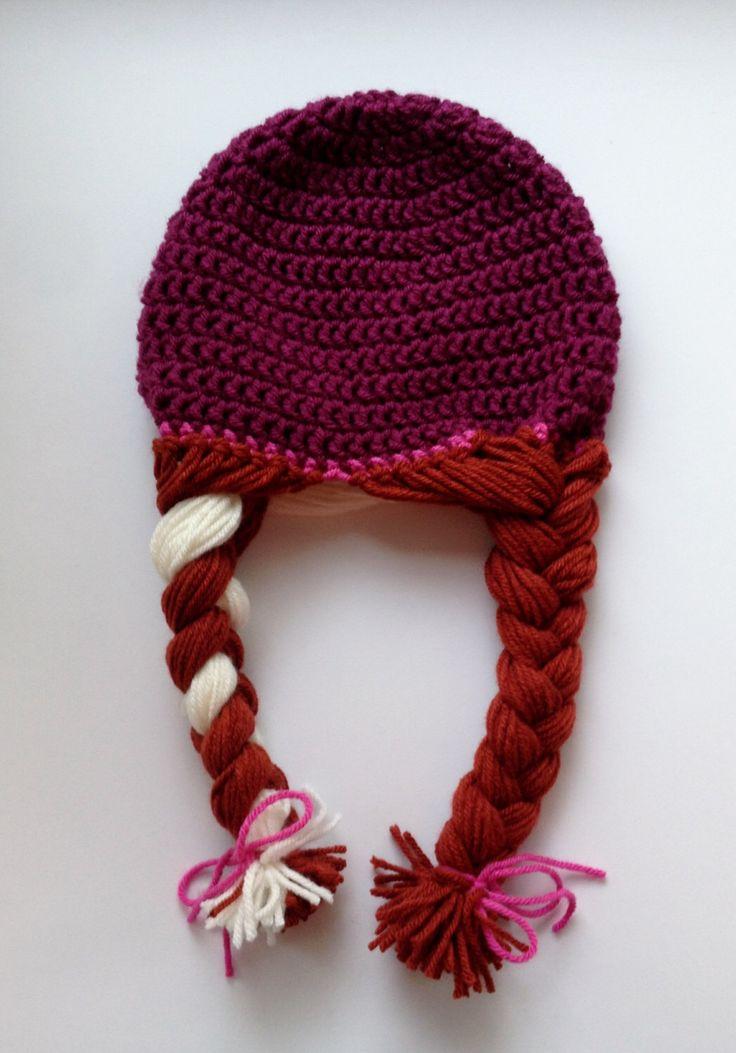 Anna Inspired Hat, Anna Frozen Hat, Toddler Gift, Christmas Gift, Crochet Frozen Hat, Baby Anna Hat, Toddler Anna Hat, Anna Costume by CozyNooks on Etsy https://www.etsy.com/listing/215468591/anna-inspired-hat-anna-frozen-hat