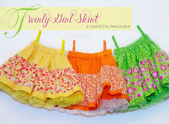 SewLoveLe: Twirly Girl Skirt Tutorial