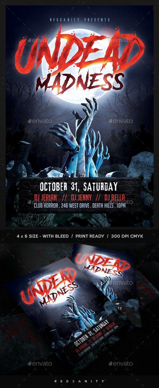 club costume costume party creepy dj drinks event flyer