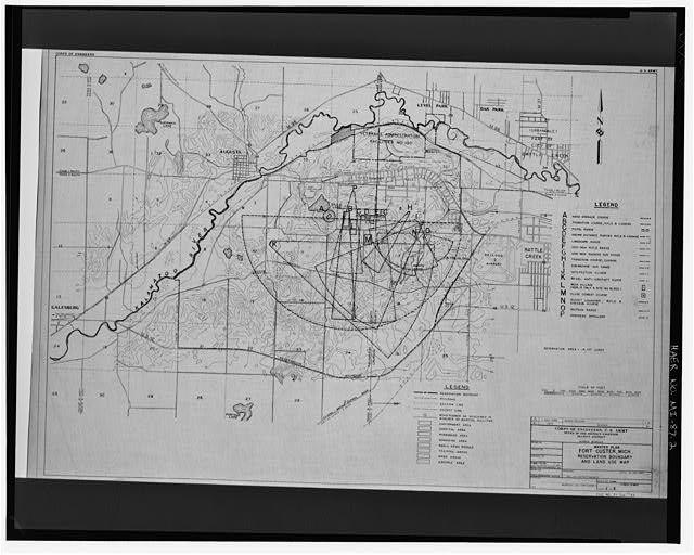 Site Plan Master Plan Fort Custer Michigan Reservation