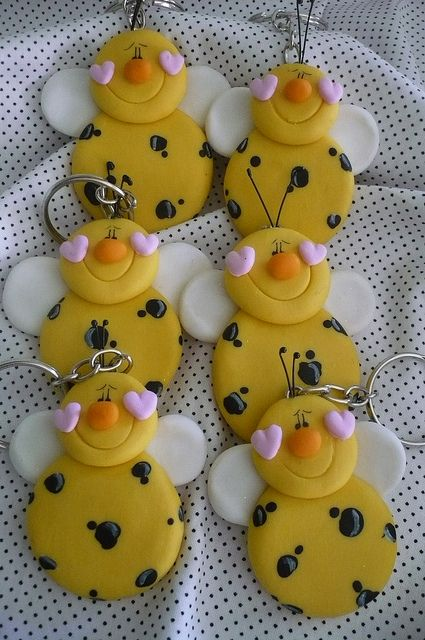 Can make them out of polymer clay for key chain or fondant to decorate a cake