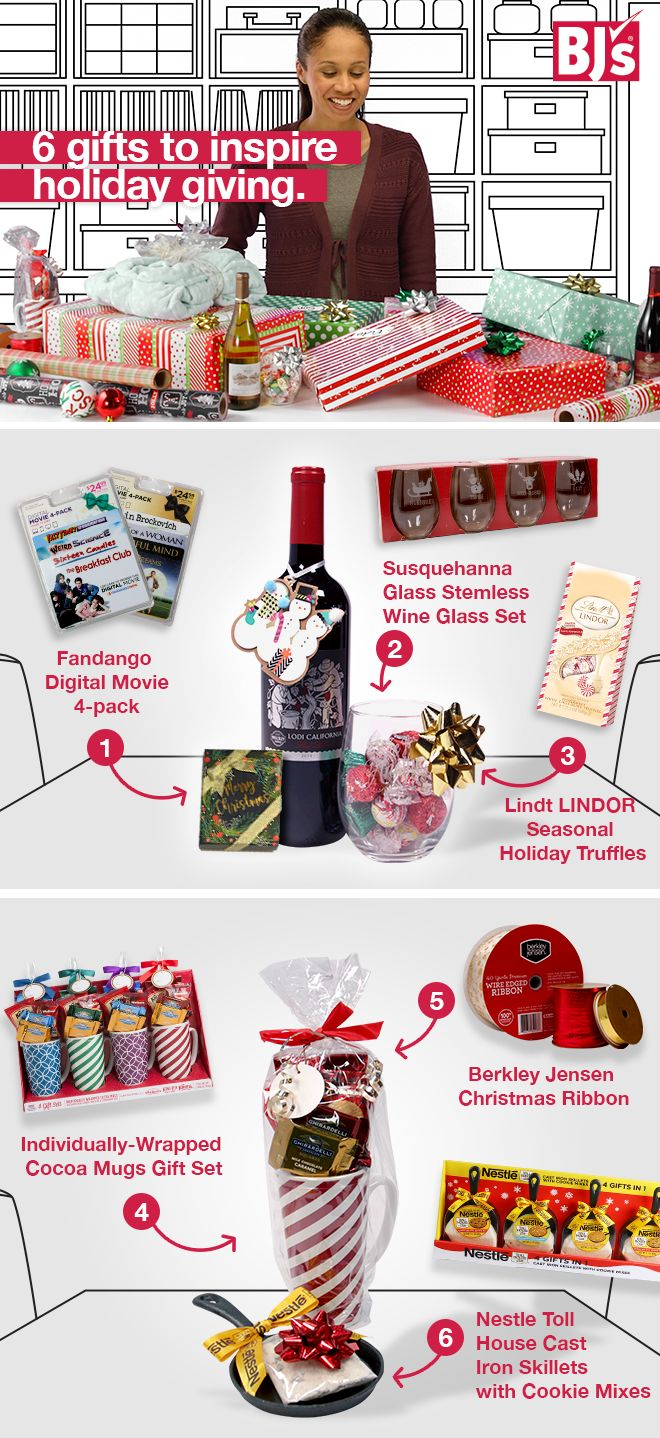 Please all members of your family with the variety of gifts offered at BJ's. Fill up your shopping cart and create unique gift sets with this DIY hack. This is how you accomplish Christmas shopping in one sweep. http://www.bjs.com/holiday--seasonal.category.3000000000000127959.2002526?N=2002526