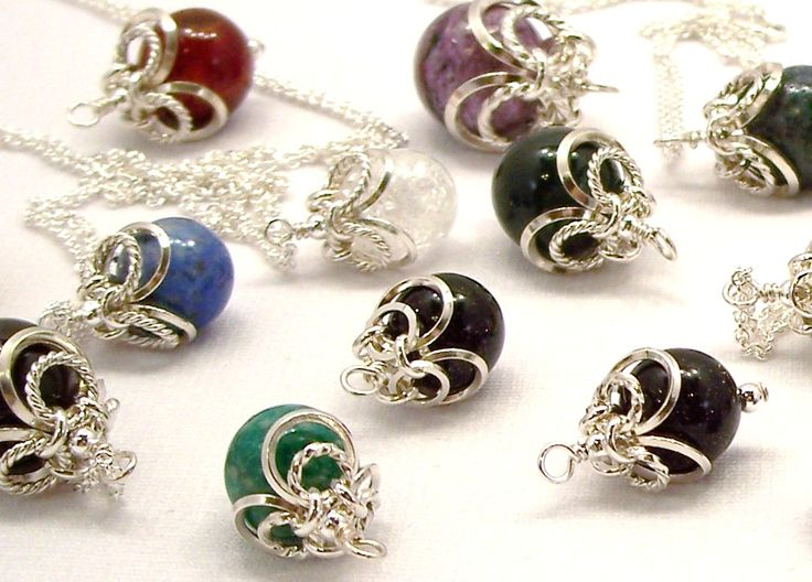 chainmaille beadcaps