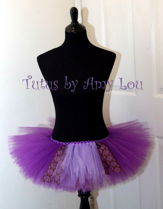 Rapunzel Inspired Princess Race Running Tutu in Purple and Lilac: Adult Women's on Etsy, $35.00