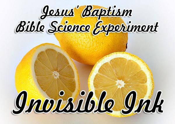 Jesus' Baptism Science Experiment: Invisible Ink Many Catholic Christians and some Protestants will be celebrating the baptism of Jesus on Sunday January 12th. Many people over the years, including John the Baptist, felt surprise that Jesus shou