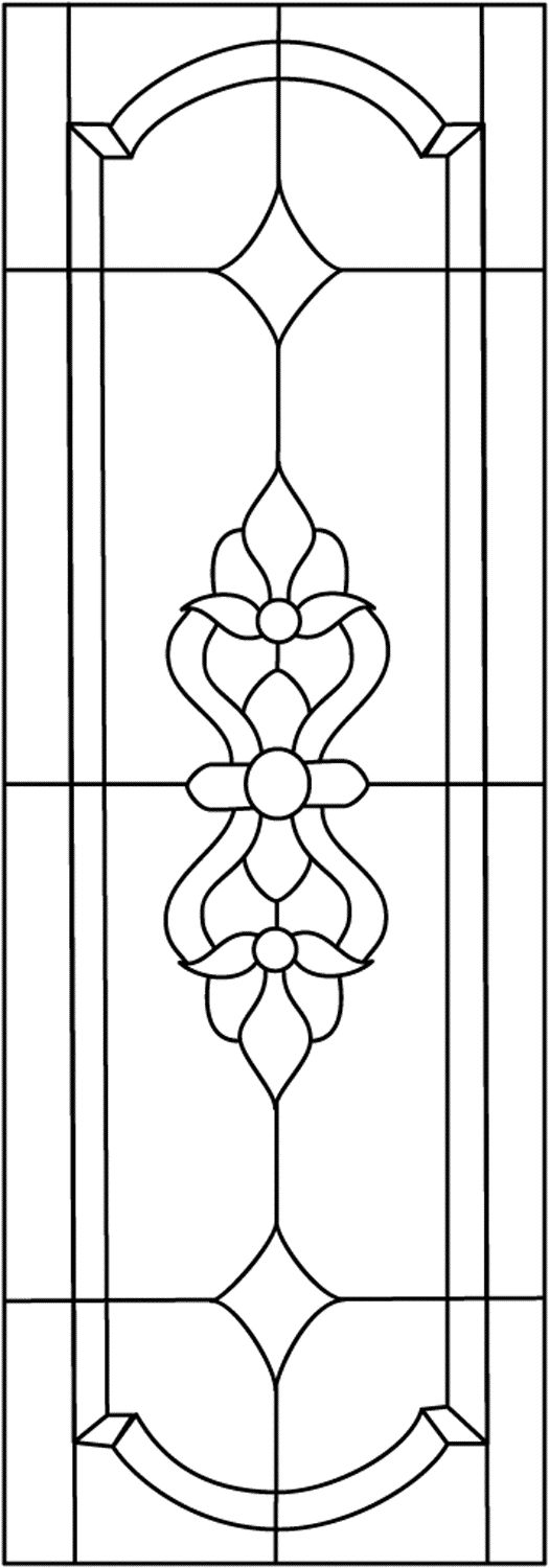 free stained glass patterns flowers - Google Search