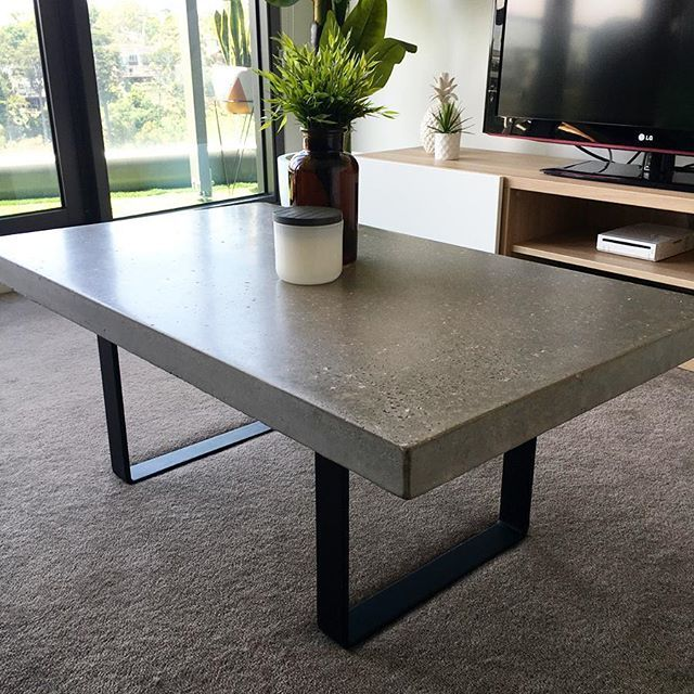 A polished concrete and steel coffee table we did a little while ago sent in by its new Melbourne owners, looks awesome! #grummie #coffeetable #concretedesign #concretefurniture #interior #interiordesign #office #officefurniture #architecture #furniture #cafefurniture #custom #handmade #australianmade #surfcoast #Torquay #Melbourne
