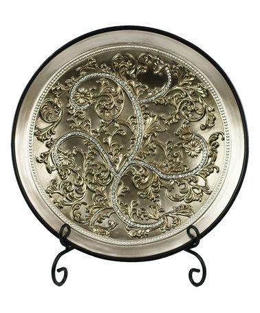 Love this Alana Large Plate u0026 Stand on #zulily! #zulilyfinds  sc 1 st  Pinterest & 593 best Pretty Plates/Bowls/Platters/Chargers/ Display Stands ...
