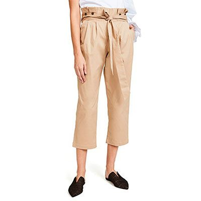 Fame and Partners The Beau Paperbag Pants - khaki pants, paperbag pants, ankle pants, high waist pants, belted pants