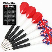 This Red Dragon Darts 19 piece darts set has been designed to give maximum performance right from the moment you hit the oche. With varying dart flight designs it includes everything you need to have a classic head-to-head game with an excellent blend of forgiveness and control. from £4.90 www.bullseyeprostore.com please like my page