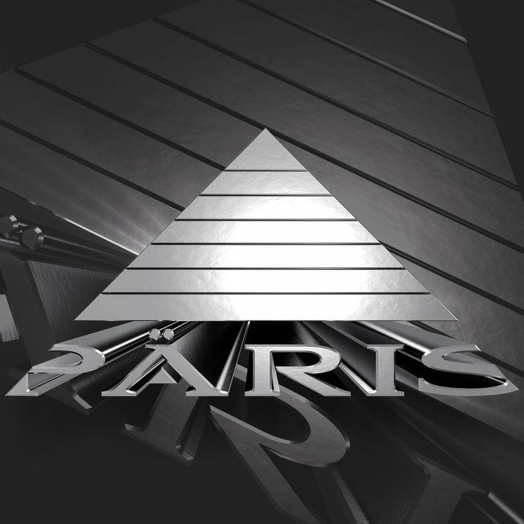 Paris / 3D Textured  www.sinedgfx.com  #päris #musik #logo #sinedgfx