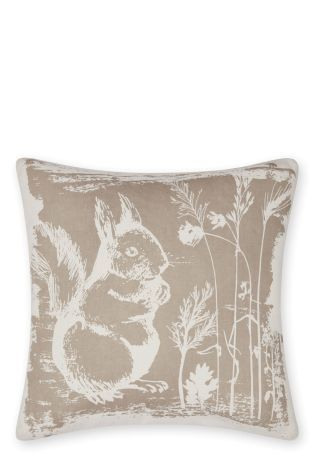Buy Squirrel Print Cushion from the Next UK online shop