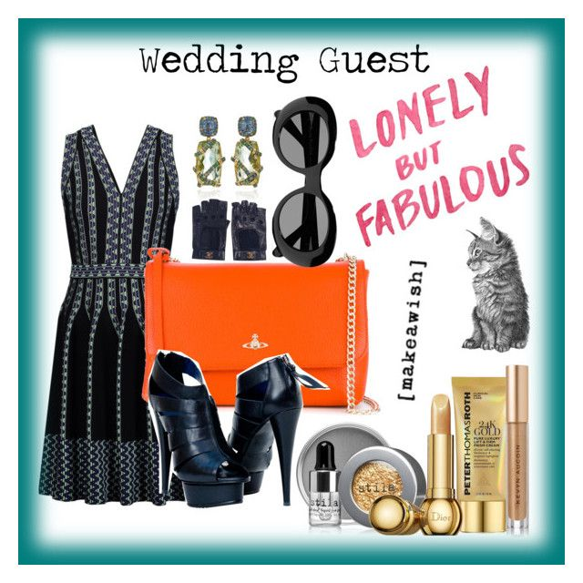 """Wedding Guest Dress"" by cheryl-muscoe on Polyvore featuring Hartmann, John Hardy, Stila, Peter Thomas Roth, Kevyn Aucoin, Christian Dior, M Missoni, Chanel, Vivienne Westwood and Paolo Shoes"
