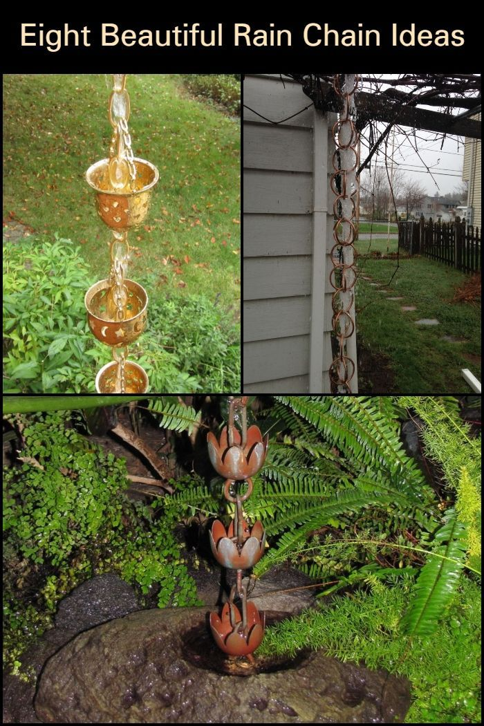 Need To Have Your Downspout Replaced Instead Of Buying Boring Pipes Why Not Make Rain Chains Using Recyc Rain Chain Beautiful Rain Chains Diy Projects Design