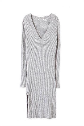 V-Neck Rib Dress. #NewandNow