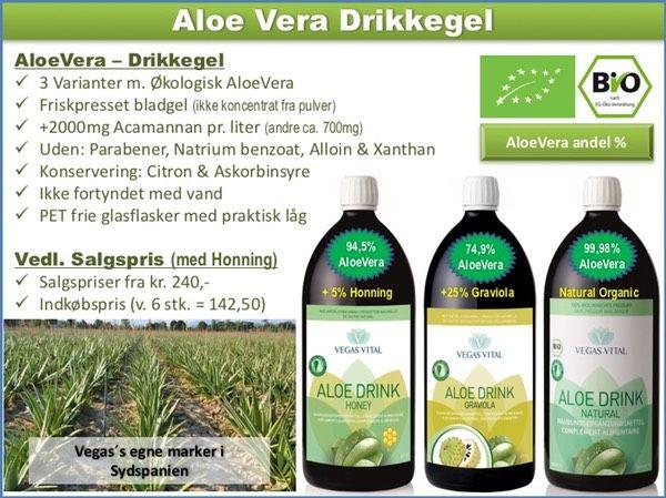 Aloe Vera Drikke Gel