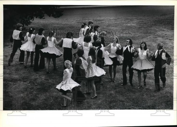 1979 Press Photo Cloudy Mountain Cloggers dance Washington County Fair