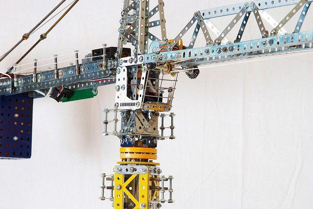 Meccano Tower Crane Cab by Philip Webb