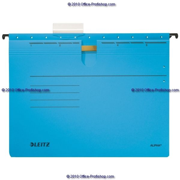 LEITZ ALPHA® Hängehefter - blau - kaufmännische Heftung, 225 g/m² - 1984-00-35…