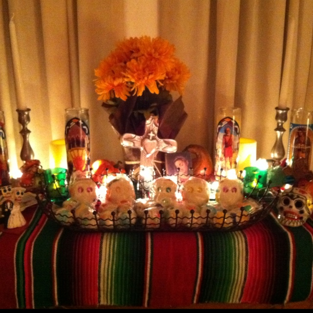 Day of Dead alter decoration for Halloween party