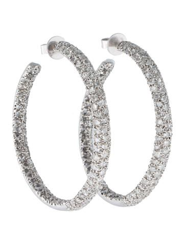 Lorraine Schwartz Diamond Hoop Earrings