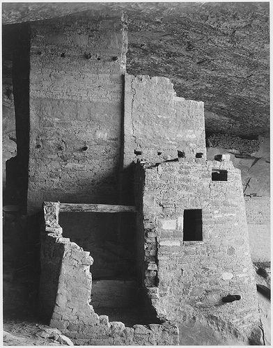 """Cliff Palace, Mesa Verde National Park,"" Colorado - by Ansel Adams"
