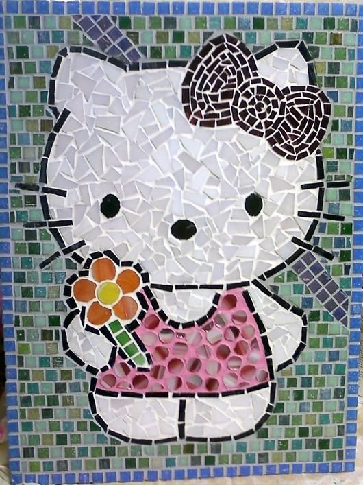 Hello Kitty Mosaic - Delphi Stained Glass...so cute!