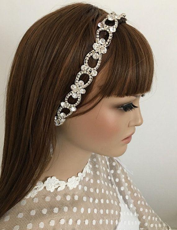 Rhinestone  Headband,  Wedding Headpiece, Rhinestone Headpiece, Wedding Hair piece,  Bridal Hair, Hair Accessories