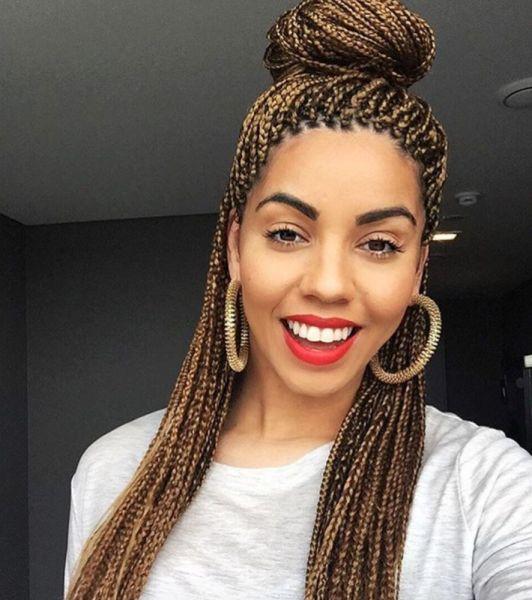 Pretty box braids @flyingwithpurpose - Black Hair Information Community