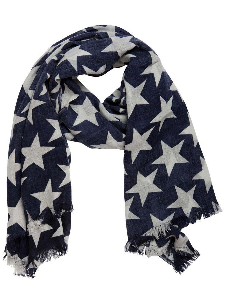 White Stars  ALL Over  Scarfs   www.premiumtowelexportindia.com