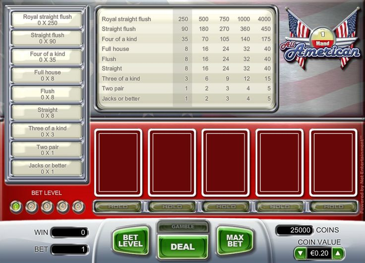 Free All American Video Poker http://www.gamesandcasino.com/casino-games/all-american-video-poker.htm #play #poker #videopoker