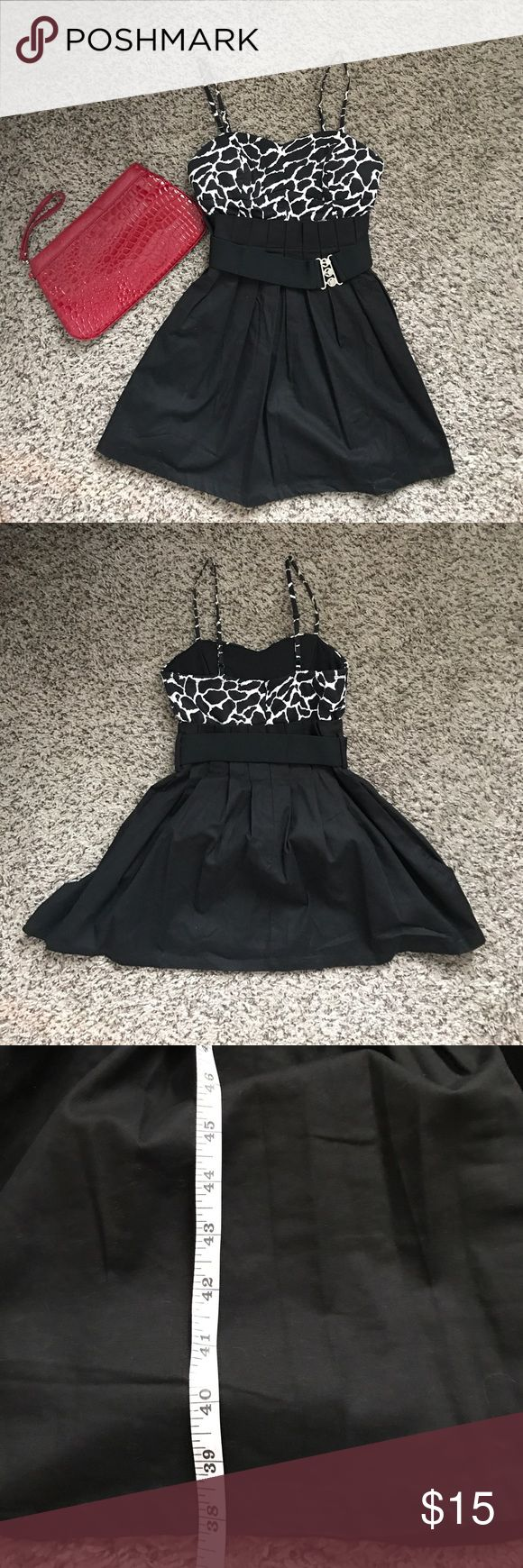 Animal Print Mini Dress **Purse not included** Super cute dress, fits like a small. Belt cinches waist and the bottom flares so it's very flattering. Mustard Seed Dresses Mini