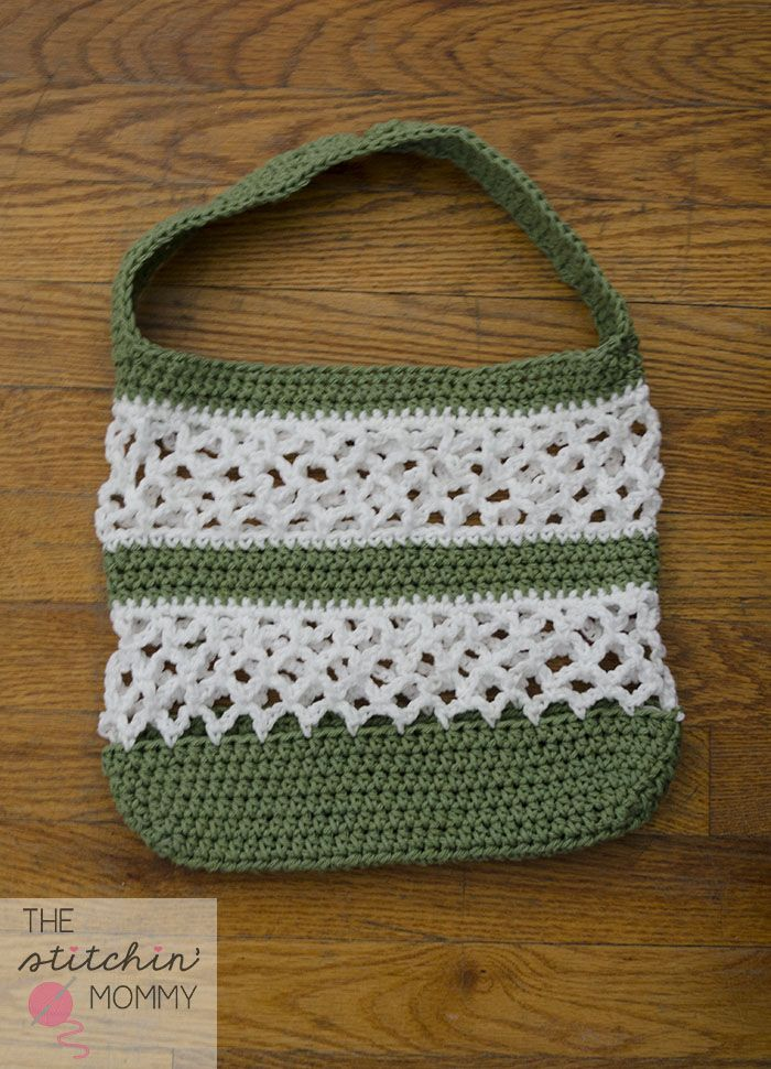 Easy Crochet Mesh Bag Pattern : Go Green! Mesh Tote Pattern Free pattern, Crochet bag ...