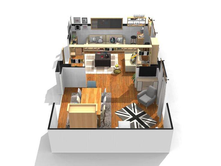Maison Dz042016 Plan Etage Homebyme. Sogg Salotto Porte 200 Apertura 250 3  Logiciel Gratuit Homebyme