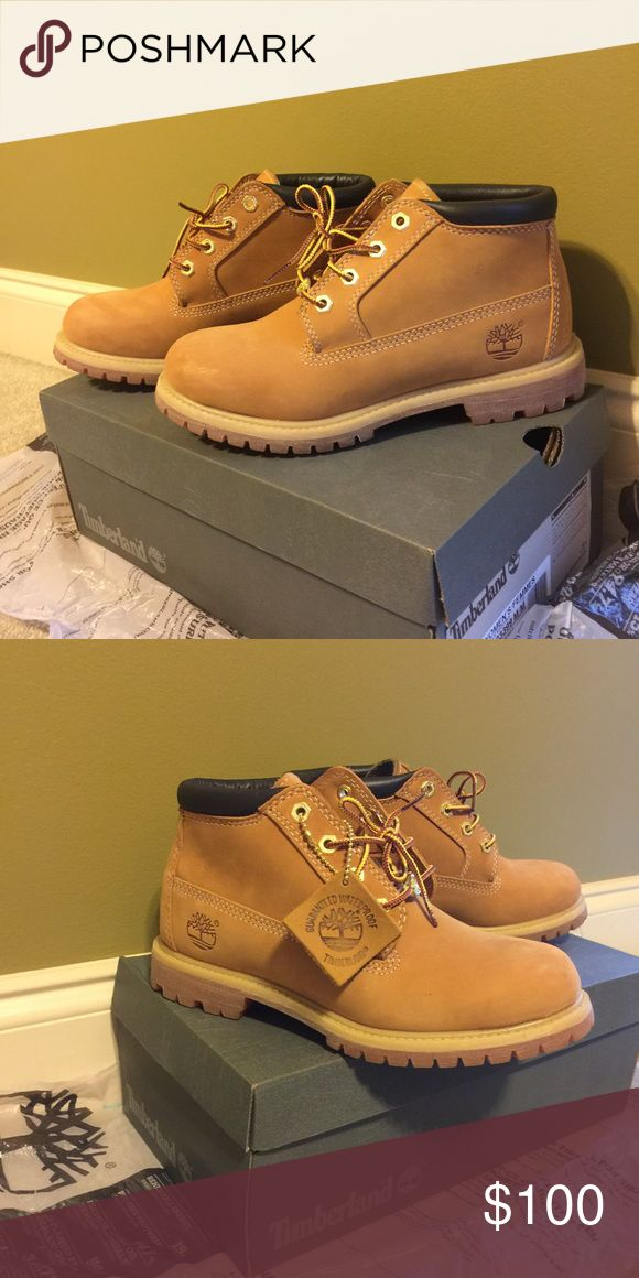 Women's Nellie Wheat/Blk Classic waterproof timberland boots in Wheat/Blk Timberland Shoes Ankle Boots & Booties